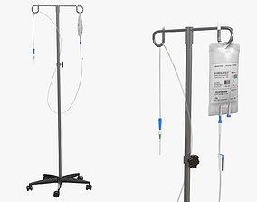 3D asset IV Blood Bag Dropper Stand