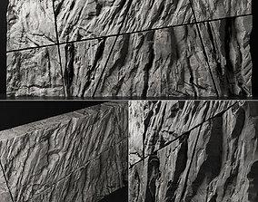 3D model Stone rock wall splinter slab n2