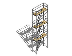 building 3D Parametric Scaffold - Revit Family