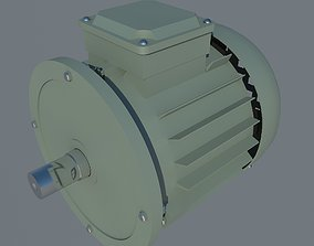 induction 3D model Electric Motor