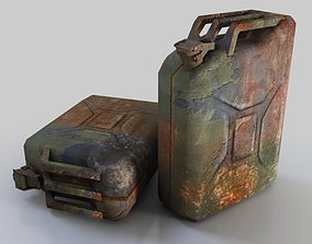 Low Poly Rusty Jerrycan 3D asset realtime