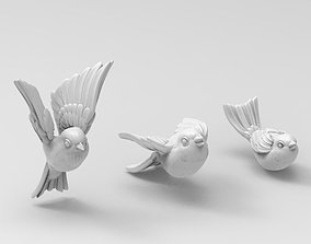 3D print model birds tit bullfinch Sparrow nightingale