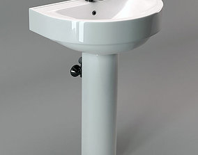 sanitary 3D model game-ready Bathroom Sink