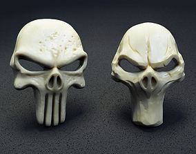 skull 3d model for printing and CNC