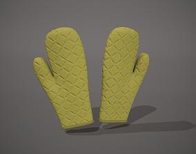 3D asset Lime-Green Oven Glove