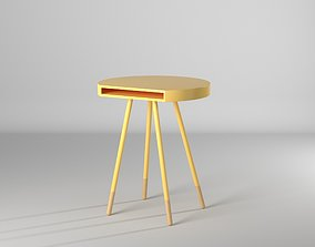 yellow 3D model Mesa Marcella - Marcella table