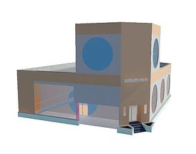 3D asset Burger King Building
