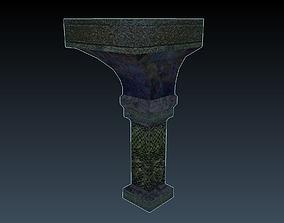 3D asset Celtic Column Arch