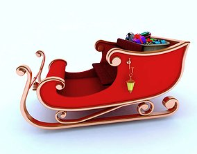 saint Santa sleigh 3d model