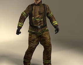 3D model Firefigther Rigged