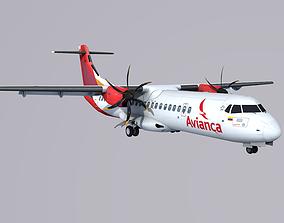 3D asset ATR-72 Avianca