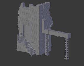 3D Factory Ruin model