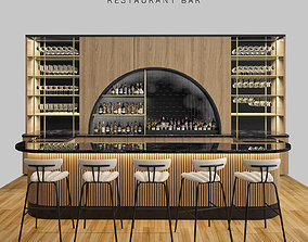 martini 3D model Restaurant bar 5