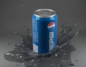 design 3D Splash 09 with can