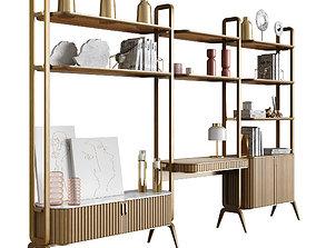 3D model EDEN ROCK Bookcase with 3 elements Design Sacha