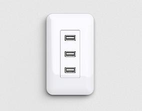 3D model usb outlet
