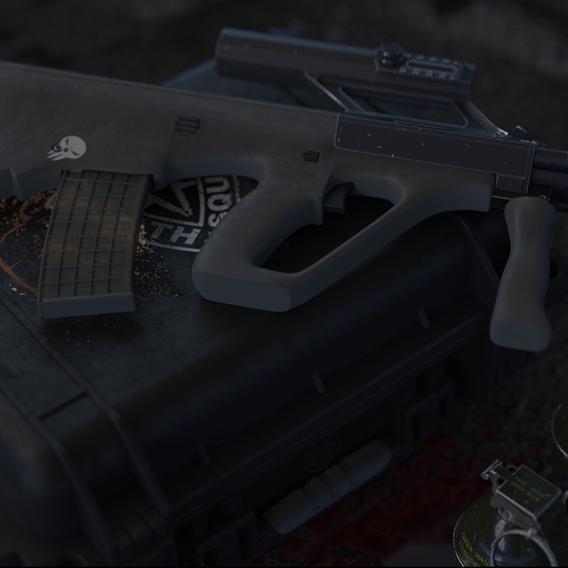 Assault rifle AUG steyr