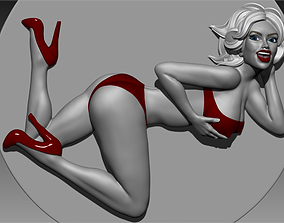 sexy Pinup girl for 3D print