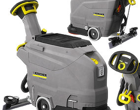WALK-BEHIND FLOOR SCRUBBER BD 4325 C Bp 3D model