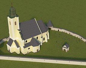 Rural Baroque Catholic Church 3D
