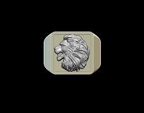 predator 3D printable model Lion ring