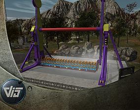 High Detail Fairground Ride 12 - Topspin 3D model
