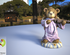 0001-06 Violin Bear 3D printable model