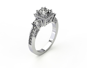 engagement luxury Engagement Ring 3D print model