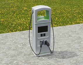 3D model ev EV charging station