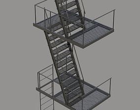 fire Fire Escape Stair 3D
