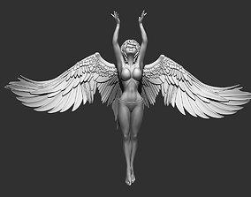 Character Angel figure Woman 3D model sunbathing