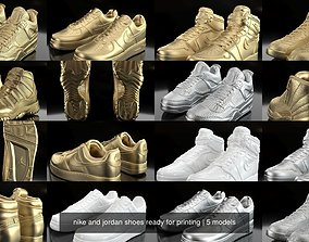 3D nike and jordan shoes ready for printing