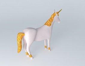 3D Fairytale unicorn