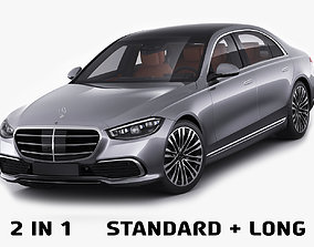 Mercedes-Benz S-class 2021 LWB and SWB 3D