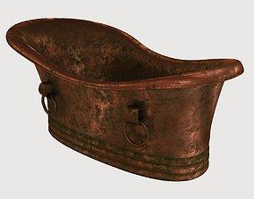 old copper bath 3D asset