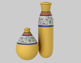 Clay Pot Yellow 3D model PBR