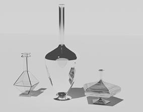 3D asset Three flasks