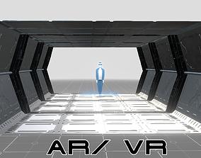 Sci-fi Steel Corridor 3D asset