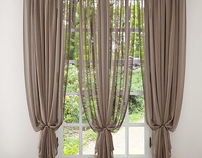 3D model fabric Curtain