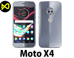3D model Motorola Moto X4 Sterling Blue