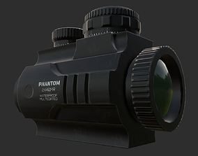 2x Scope low poly 3D model