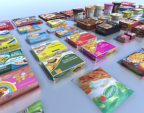 3D model Frozen products with LOD
