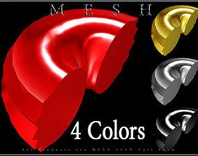 3D asset Toroid Ring - Half
