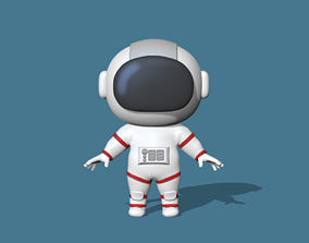 3D printable model A cute Astronaut to decorate and