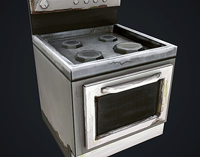 3D asset realtime Hand-paint Oven