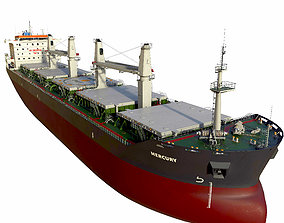 watercraft 3D model Bulk carrier