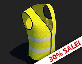 3D asset VR / AR ready PPE Safety Hi Vis Vest