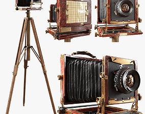 3D Vintage camera on a tripod other