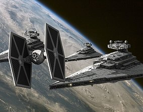 3D model Star Wars Imperial Tie Fighter
