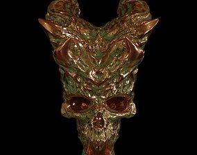 Copper Skull 3D model